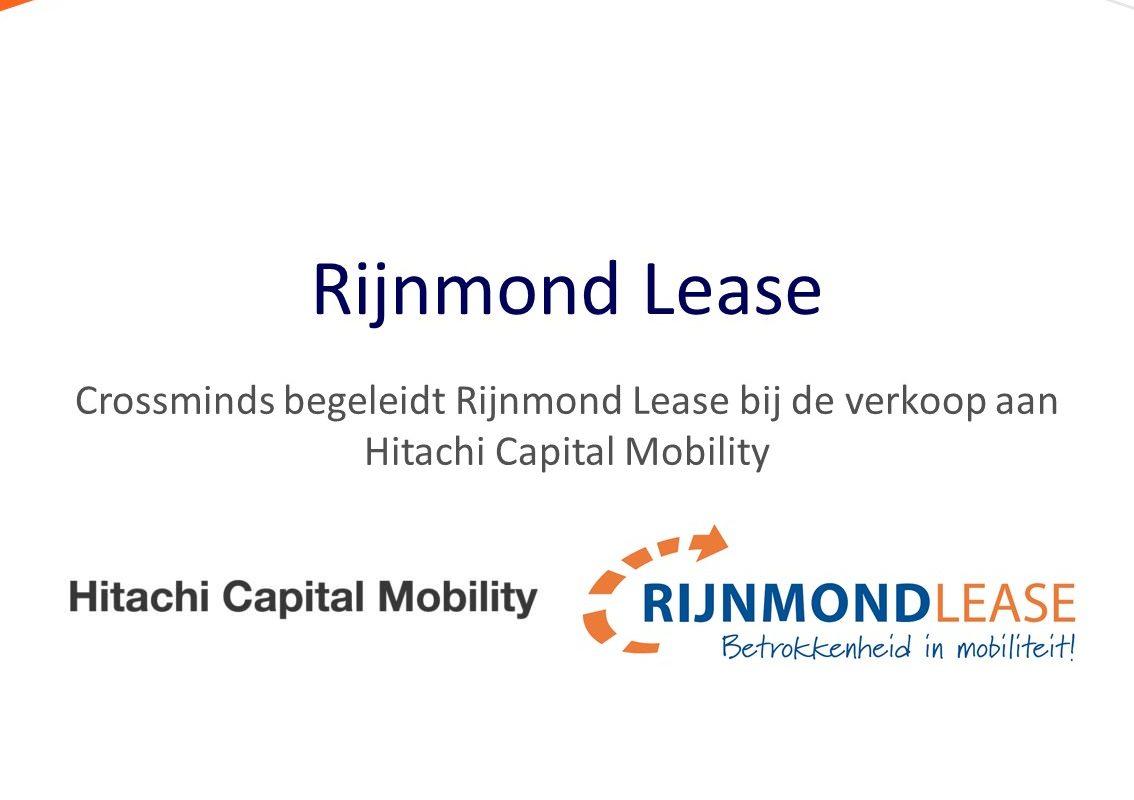 Crossminds begeleidt Rijnmond Lease bij verkoop aan Hitachi Capital Mobility