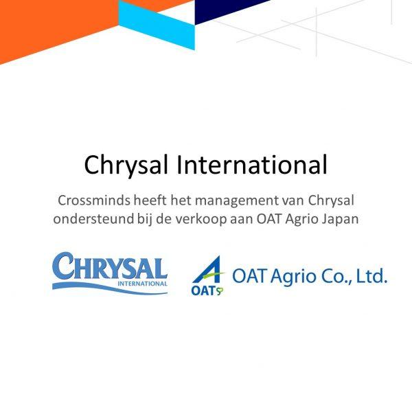 Crossminds ondersteunt Chrysal bij verkoop aan OAT Agrio Japan