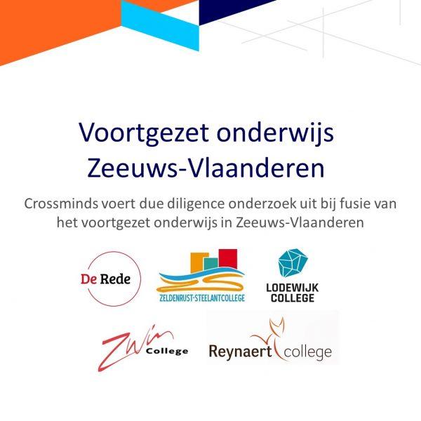 Crossminds voert due diligence onderzoek uit bij fusie voortgezet onderwijs scholen in Zeeuws-Vlaanderen