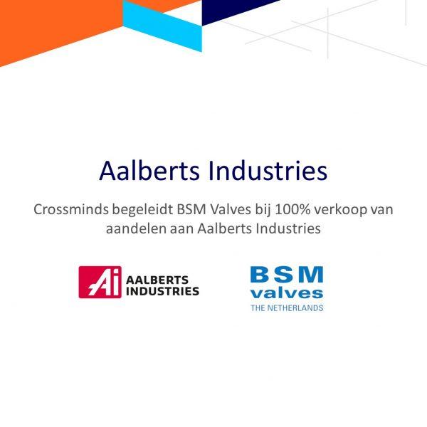 Aandelen BSM Valves overgenomen door Aalberts Industries