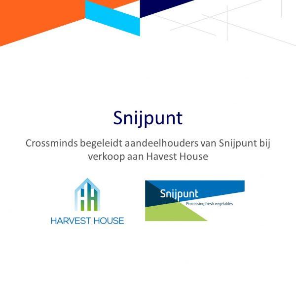 Crossminds begeleidt aandeelhouders Snijpunt bij verkoop aan Harvest House