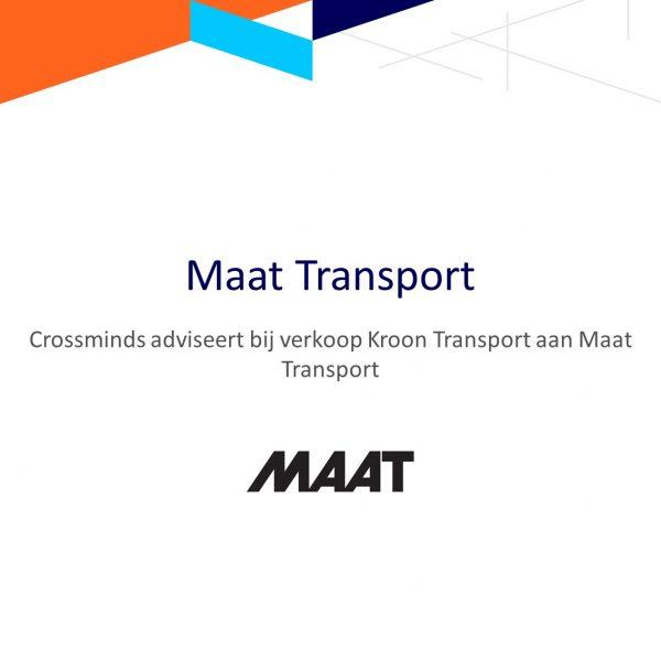Crossminds adviseert bij verkoop Kroon Transport aan Maat Transport