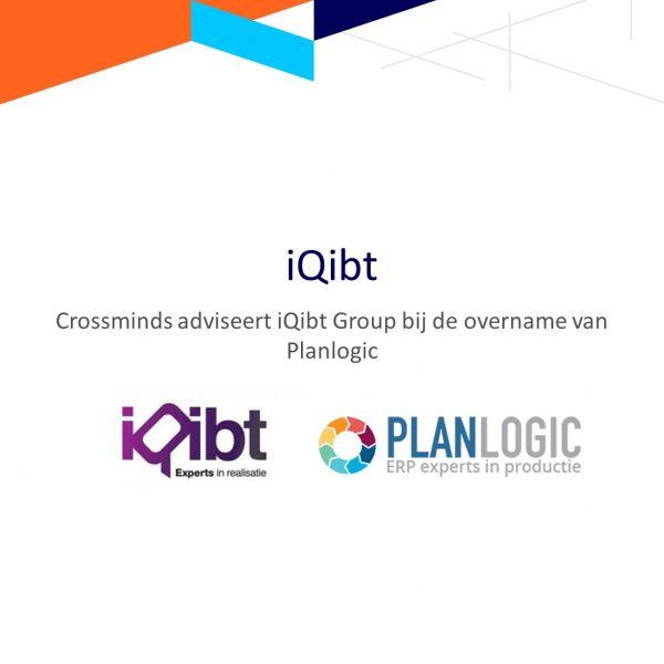 Crossminds adviseert iQibt Group bij de overname van Planlogic