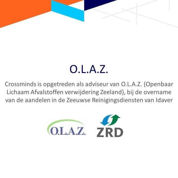 Crossminds adviseur opgetreden namens O.L.A.Z. bij overname van aandelen in Zeeuwse Reinigingsdienst