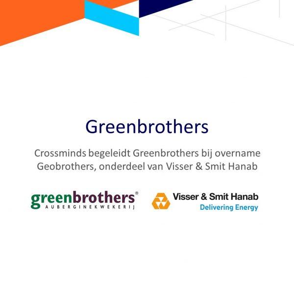 Crossminds begeleidt Greenbrothers met (duurzame) overname Geobrothers