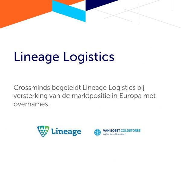 Crossminds begeleidt Lineage Logistics bij versterking van de marktpositie in Europa met overnames