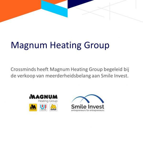 Crossminds begeleidt Magnum Heating Group bij verkoop aan Smile Invest