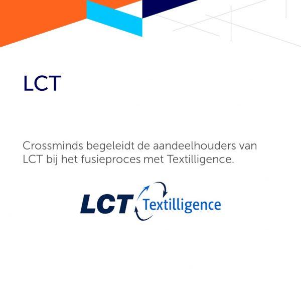 Crossminds begeleidt LCT en Textilligence bij het bundelen van hun krachten.