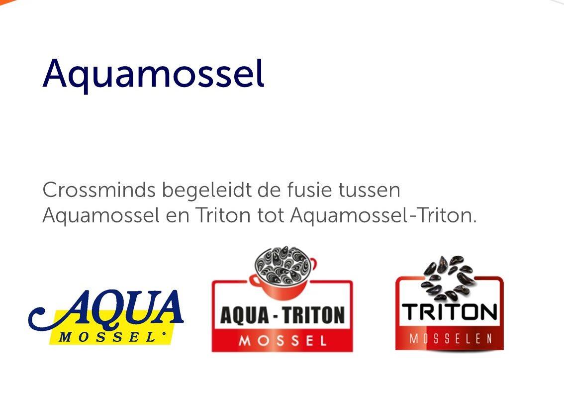 Crossminds begeleidt de fusie tussen Aquamossel en Triton tot Aquamossel-Triton.