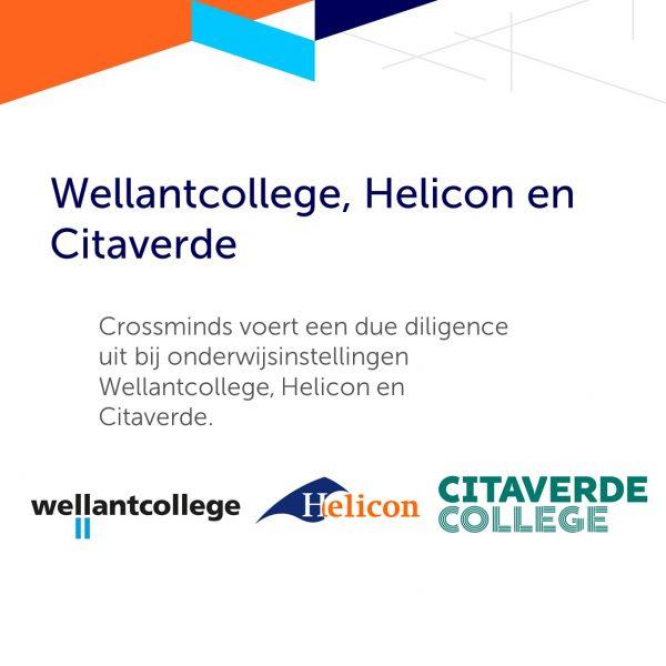 Crossminds ondersteunt Wellantcollege, Helicon en Citaverde bij fusie