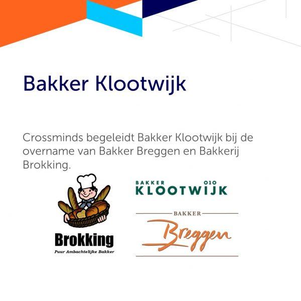 Crossminds begeleidt Bakker Klootwijk bij de overname van Bakker Breggen en Bakkerij Brokking.