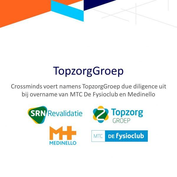 Crossminds voert namens TopzorgGroep een due diligence onderzoek uit naar MTC De Fysioclub en Medinello.