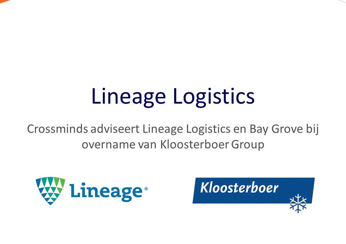 Crossminds adviseert Lineage Logistics en Bay Grove bij overname van Kloosterboer Group